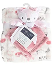 """Baby's First by Nemcor 2 Piece Baby Blanket and Buddy Set, 30x40"""" Plush Security Blanket for Newborn and Infant, Pink Fox"""
