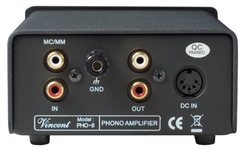 Vincent PHO 8 Phono Stage MM/MC Outboard Power Supply Silver by Vincent (Image #1)