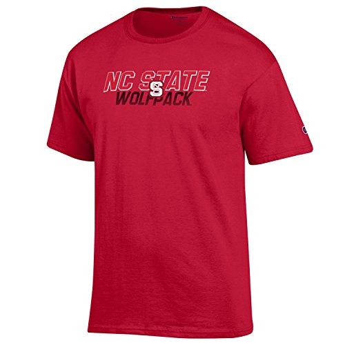 Nc State Wolfpack Classic Shirt (NCAA North Carolina State Wolfpack Men's Champ Short sleeve T-Shirt 1, Large, Scarlet)