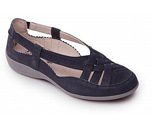Femmes Ouvertes d'été Marine Grande Taille Pied Padders Chaussures EE Gratuit Talon Chaussure Avec 25mm 'Delta' Cuir Chausse en Extra d0qqSwnU