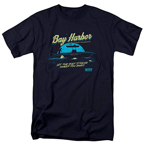 Dexter Dark T-shirt - Dexter Bay Harbour Moonlight Fishing T Shirt (XX-Large) Navy