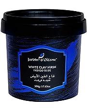قناع الطين الابيض بالنيلة الزرقاء 500 جرام من جاردن أوليان
