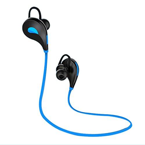 GBSELL New Universal Bluetooth Wireless Handfree Headset Stereo Headphone Earphone,Sport,Sweatproof,Microphone,Volume Control,Playback Controls,Calling Functions ()