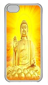 Custom design PC Transparent Case Cover For iPhone 5C DIY Durable Shell Skin For iPhone 5C with Buddha 5