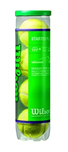 Wilson Starter Play Stage 1 - 4er Balldose Farbe : gelb mit grünen Punkt