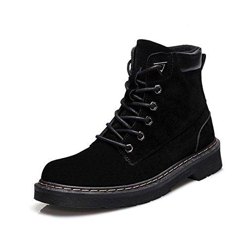 Martin botas botas casual solo modelos de otoño e invierno botas zapatos planos tamaño grande black