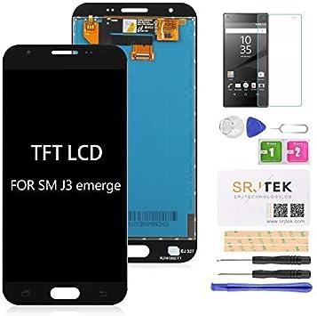 srjtek Reemplazo De Pantalla TFT LCD para Samsung Galaxy J3 J327A ...