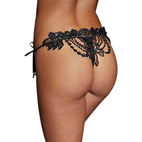 Sexy Underwear ,BeautyvanWomen Sexy Lace Lady Briefs Lingerie Knickers G-string Thongs Panties Underwear (Black, Free Size) (Victoria Secret Halloween Costume)