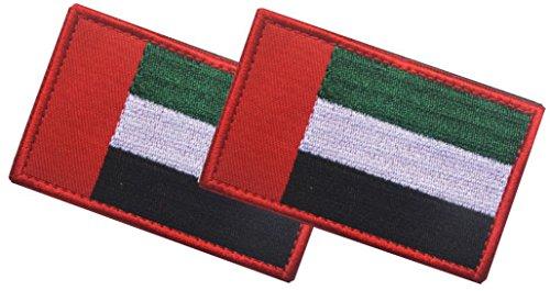 United Arab Emirates Costume (QTao PA112 Multiple Country Flag Velcro Patch 2 PCS (The United Arab Emirates))
