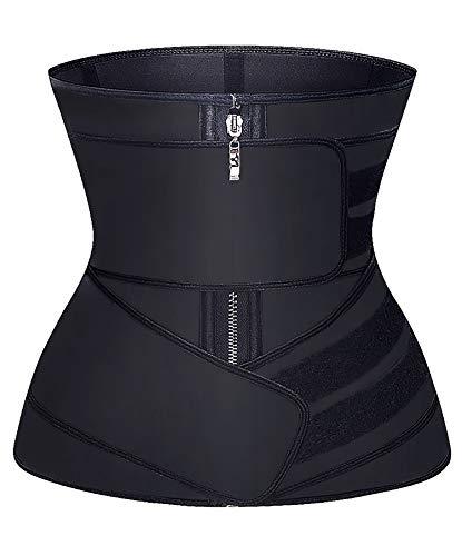 YIANNA Waist Trainer for Women Tummy Control JSculpt Double Trimmer Belt Workout Training Sport Girdle