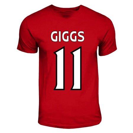 Gildan Ryan Giggs Manchester United Hero T-Shirt (red) (United Ryan Giggs Manchester)