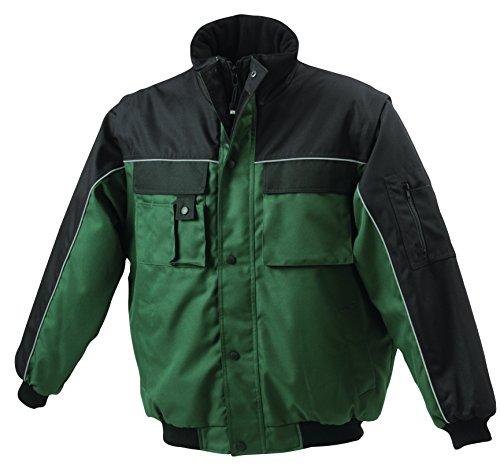 Giacca Maniche Dark green Imbottita black Staccabili Workwear Con Jacket rzrqgAE