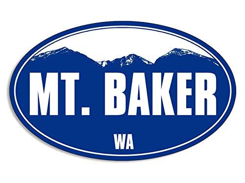 Baker Sticker - Blue Mountain Oval MT BAKER Sticker (snow ski skiing resort)