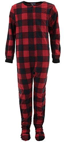 Komar Kids Big Boys' Buffalo Check Blanket Sleeper, Red Check, Medium