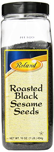 - Roland Sesame Seeds, Roasted Black, 16 Ounce