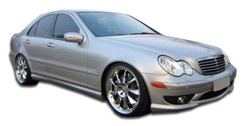 2001-2007 Mercedes C Class W203 Duraflex AMG Look Side Skirts Rocker Panels - 2 Piece (Overstock)