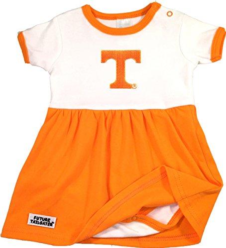 Future Tailgater Tennessee Volunteers Baby Onesie Dress (Newborn)
