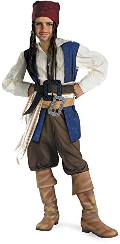 Captain Jack Sparrow Classic Costume - Medium (7-8) (Jack Sparrow Boys Costume)