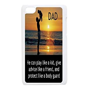 YAYADE Phone Case Of I OLVE DAD Unique Cool Fashion Style Colorful Painted Father's Day For Ipod Touch 4