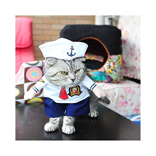 f5zhangdd Costume Nurse Policeman Pirate Cowboy Suit Dog Cat Halloween Costume Pet Puppy Suit Dressing Up Party Clothes,L,M