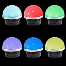 Signstek Wireless Portable bluetooth Speaker/ Mini soundbot/ MP3 Player/ Night Light 5 Colors Changeable Mushroom-Shaped