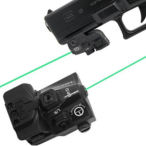 Lasercross RGL102 Tactical Compact Green Dot Laser Sight with 20mm Rail Picatinny On/Off Switch for Air Pistol,Airgun,Modem Semi-automatic Pistols,Handgun,Shotguns,Rifle etc