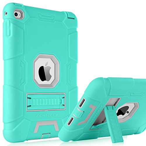 iPad-Mini-4-CaseiPad-Mini-4-Retina-CaseBENTOBEN-3-IN-1-Hybrid-SoftHard-Heavy-Duty-Rugged-Stand-Cover-Shockproof-Anti-slip-Anti-Scratch-Full-body-Protective-Cases-for-iPad-Mini-4Mint-GreenGray