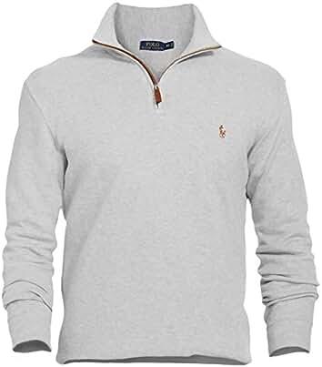 Polo Ralph Lauren Mens Estate,Rib Half Zip Sweater