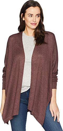 American Rose Women's Diana Long Sleeve Cardigan Marsala Large
