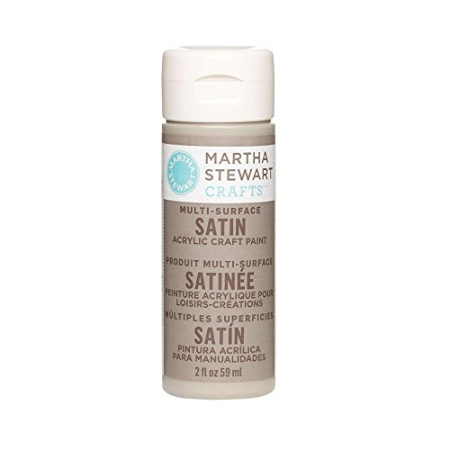 Martha Stewart Crafts Multi-Surface Satin Acrylic Craft Paint in Assorted Colors (2-Ounce), 32079 Gray Wolf