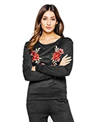 Womens Cherri Rose Detail Knitted Loungewear