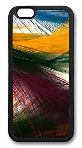 Colorful Backgrounds Custom iPhone 6 Case Cover TPU Black wangjiang maoyi