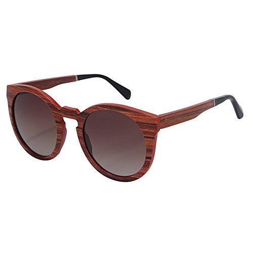 Libre Sol Alta a Gafas UV Lens de la Protección de de Calidad Sol Hechas en al de TAC Aire Gu Gafas Mano los Peggy Madera Hombres conducción de Marrón Polarized Vacaciones de Playa gw5qFTxHO0