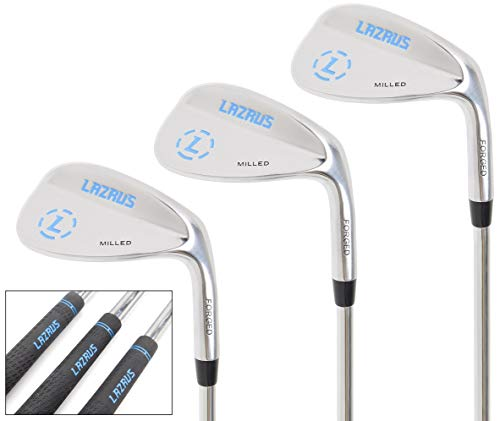 - LAZRUS Premium Forged Golf Wedge Set for Men - 52 56 60 Degree Golf Wedges + Milled Face for More Spin - Great Golf Gift (Silver Wedge Set)