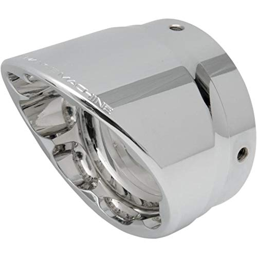 Eagle End Caps Screamin - Performance Machine Elite Exhaust End Cap for Screamin Eagle 4in. Slip-On - Slash - Chrome 02042017SLA-CH