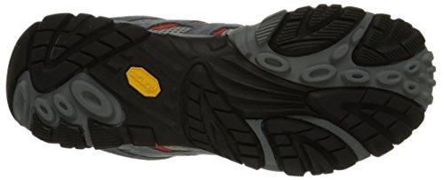 Merrell Moab Ventilator - Botas de senderismo de cuero hombre, color, talla 41.5 (8 UK) - Granite/Lantern