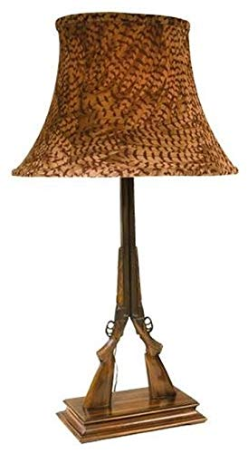 EuroLuxHome Sculpture Table Lamp Mountain Traditional Antique Pheasant Feather Doubl