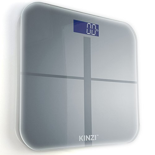 Kinzi Precision Digital Bathroom Scale w/ Extra Large Lighted Display, 400 lb. Capacity and ''Step-On'' Technology by Kinzi (Image #2)