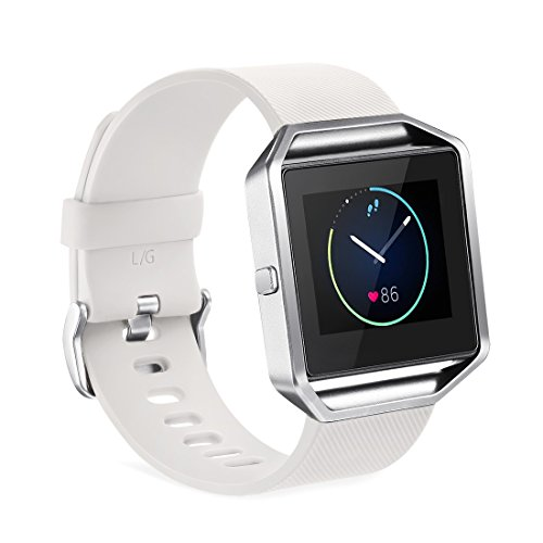 GinCoband Fitbit Blaze Bands Replacement For Fitbit Blaze Smart Watch No tracker 8 Color Large Small Women (White, Small)