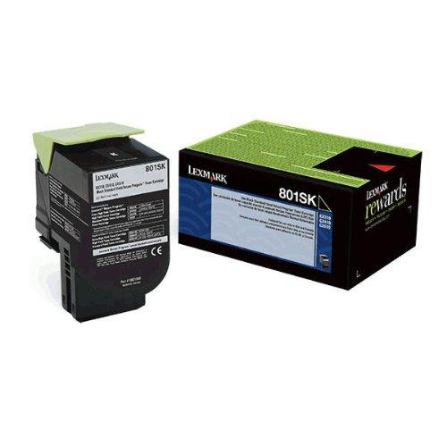 LEX80C1SK0 - Lexmark 801SK Black Standard Yield Return Program Toner Cartridge