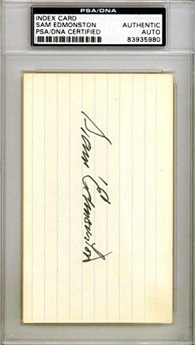 Sam Edmonston Autographed Signed 3x5 Index Card Senators #83935980 PSA/DNA Certified NHL Cut Signatures