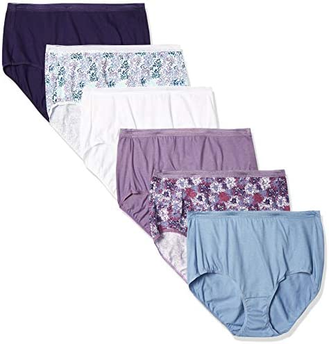 Hanes Women's Signature Breathe Cotton Brief 6-Pack