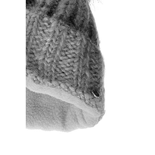 Pompón gris pompón con by con beaniesombrero Indra Gorro Chillouts F7T5wqw8