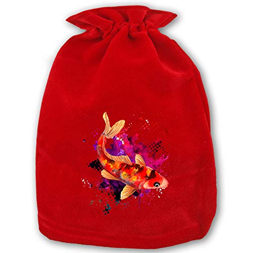 - Large Christmas Candy Bags Gift Treat Bags for Favors and Decorations Color Koi Fish