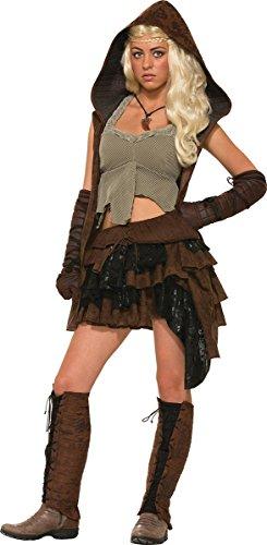 Womens Medieval Dothraki Khaleesi Fancy Dress Party Rogue Warrior Female Costume