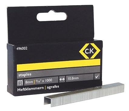 C.K 496003 Agrafes Carré es 10, 5 x 10 mm