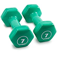 Crown Sporting Goods Vinyl Hex Hand Weights Home and Gym Equipment, Mint Green