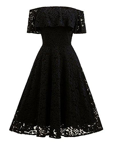 Festliche kleider knielang schwarz weib