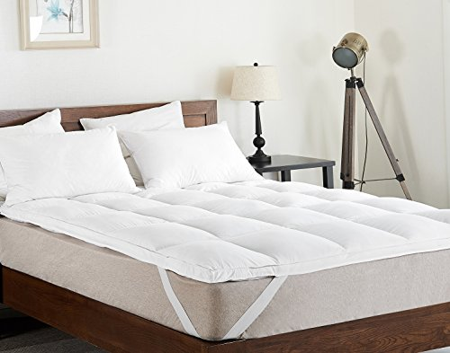 Cheer Collection Extra Plush Luxurious Down Alternative Feather Bed Mattress Topper, King by Cheer Collection
