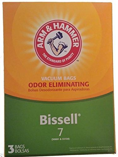 Arm & Hammer Odor Eliminating Vacuum Bags, Bissell 7 Bag, 3 Pack